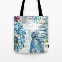 cardinal Tote Bags featuring Cardinal by Spinning Daydreams