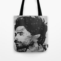 jared leto Tote Bags featuring Vector Jared Leto by Emma Porter