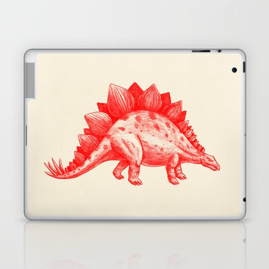 Red Stegosaurus  Laptop & iPad Skin