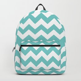 Aqua Chevron Backpack