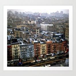Essex Street, NYC, 1981 Art Print