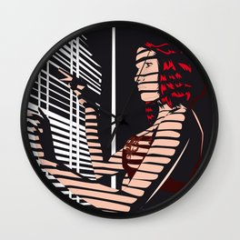 02 - SHADOW GIRL Wall Clock
