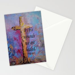 By His Wounds We Are Healed Stationery Cards