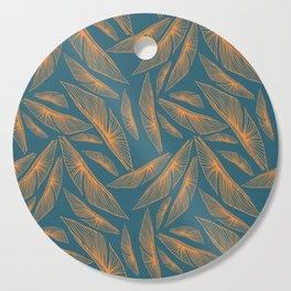 Feathered Leaf Pattern Cutting Board