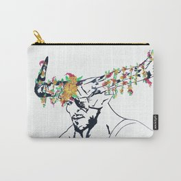 The Iron Bull Flower Crown Carry-All Pouch