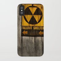 fallout iPhone & iPod Cases featuring Fallout Shelter by Julie Maxwell