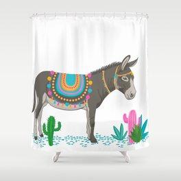 Cute donkey art Shower Curtain