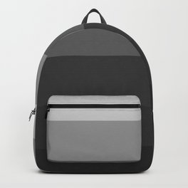 Gray to Black Stripes Backpack