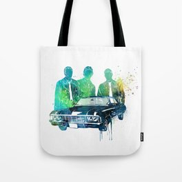 SuperNatural brothers and the Chevy Impala Tote Bag