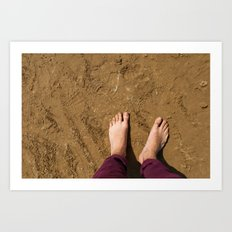 Barefoot on beach (UK) Art Print