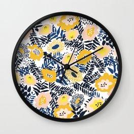Happy life and fresh design: Summer greetings Wall Clock