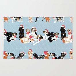Coonhound Holiday Rug