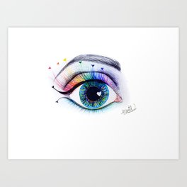 Eye see rainbows Art Print