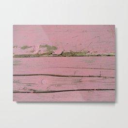 Pink Fence Metal Print