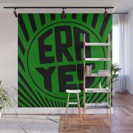 ERA YES - Green and Black Wall Mural
