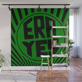 ERA YES - Green and Black Wall Mural