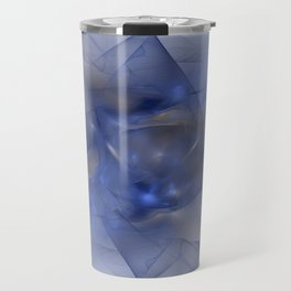 Folds in Blue N Gold Travel Mug