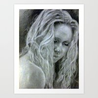 beth hoeckel Art Prints featuring Beth by EleanorOrchard