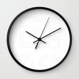 Microwave-To-Spy-Dark-T-shirt Wall Clock