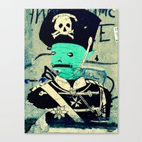 soldier Canvas Prints featuring soldier by very giorgious