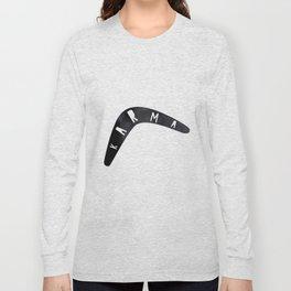 Karma / poster, boomerang, art print, pictures, scandinavian, nursery, deco, family, saying, christm Long Sleeve T-shirt