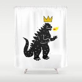 Jean-Michel Basquiat's Crown on Japanese Monster Shower Curtain