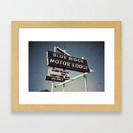 Motor Lodge Framed Art Print