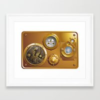 steampunk Framed Art Prints featuring Steampunk by pASob