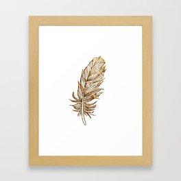Golden Feather Framed Art Print