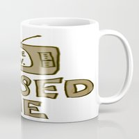 tv Mugs featuring tv by gasponce