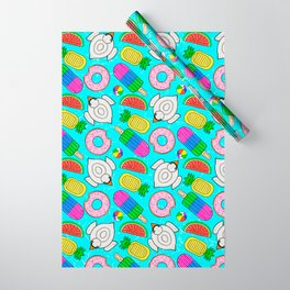 Pool Float Party Wrapping Paper