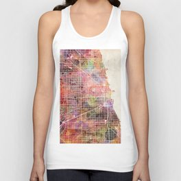 Chicago map Unisex Tank Top