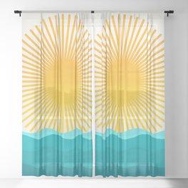 Sun and Sea Sheer Curtain