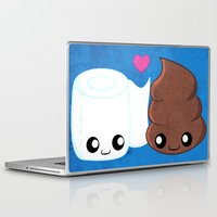 toilet Laptop & iPad Skins featuring The Best of Friends - Toilet Paper and Poop by Whitney Lynn Art