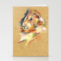 guinea pig Stationery Cards featuring Guinea pig II by Anaïs Chesnoy
