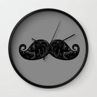 keep calm Wall Clocks featuring keep calm by zakihamdani