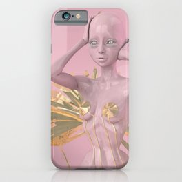 Pastel Humanoid Diskette iPhone Case