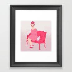 Fröken Saudade Framed Art Print