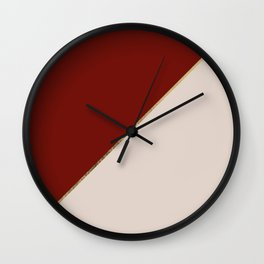 Modern geometric gold burgundy champagne elegant design Wall Clock