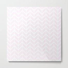 2020 Color: Pink Cream in Chevron Metal Print