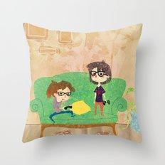 Eyeglasses Throw Pillow