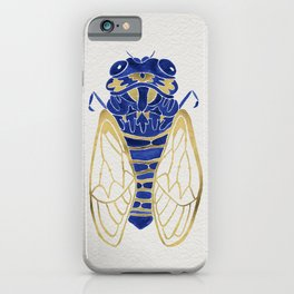 Cicada – Navy & Gold iPhone Case
