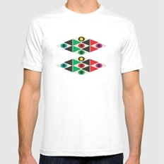 triangle pattern MEDIUM Mens Fitted Tee White