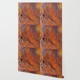Fire Stone rustic decor Wallpaper