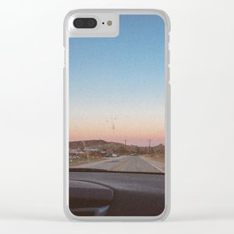 SUNSETS WITH HER / California Clear iPhone Case