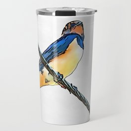 Swallow Bird On A Wire Travel Mug