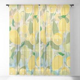 Lemon Song Sheer Curtain