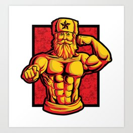 Soviets At The Gym | Fitness Training Muscles Art Print