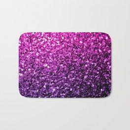 Purple Pink Ombre glitter sparkles Bath Mat