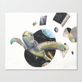 Space Turtle Canvas Print
